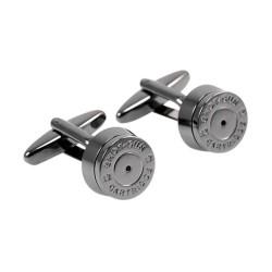 Round bronze bullet cufflinks