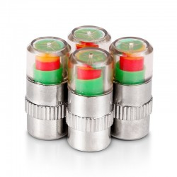 Tire pressure indicator - universal - car tire valve cap 4 pcs