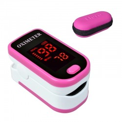 LED display - finger pulse oximeter with protection case