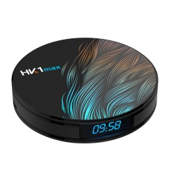 HK1 Max RK3328 4GB 64GB Android 9 - 5G WIFI Bluetooth 4 - 4K VP9 H.265 HDR10 TV Box with time display