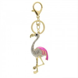 Crystal Flamingo - Keychain
