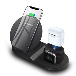 Wireless charger stand for iPhone AirPods Apple Watch iPhone X 8 XS - charging dock station