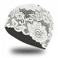 Swimming cap with lace flowers - waterproof