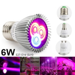 6W E27 E14 GU10 LED grow light - hydroponic