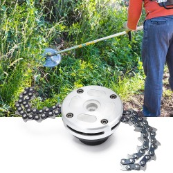 Lawn mower - cutter head - chain