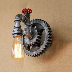 Vintage iron pipe - wall lamp