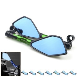Motorcycle aluminum rear view mirrors with blue glass for Kawasaki Z900 Z900RS Z800 Z1000