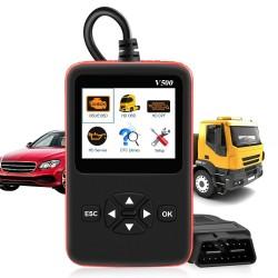 Car & truck OBD2 scanner - V500 HD code reader - dual-use - diagnostic tool