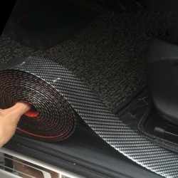5D carbon fiber car sticker strip - door sill protector