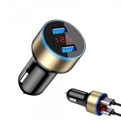 5V 3.1A Universal smartphone car charger with dual USB and LED