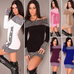 Cotton & wool - long warm sweater