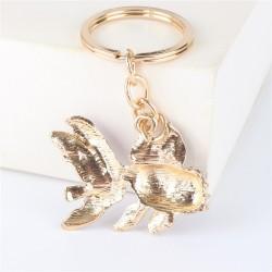 Crystal goldfish - keychain