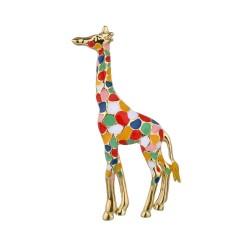 Enamel giraffe - elegant brooch