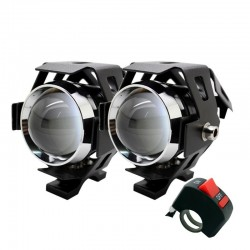 Motorcycle LED headlight - 3000LM CREE Chip U5 - 3 modes - fog lamp - waterproof 2 pieces