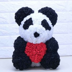 Panda bear - made from infinity roses - rose bear - 40cm