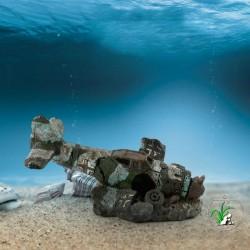 Mini resin airplane - aquarium & fish tank decoration