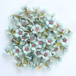 Artificial silk daisies - for making decoration - 2 cm - 50 pieces